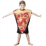 Fantasia de Pizza infantil colete curto