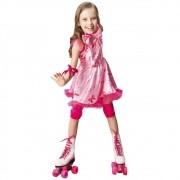Fantasia de super Girl patinadora com cotoveleiras