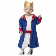 Fantasia do Principe Téo com coroa para Bebês