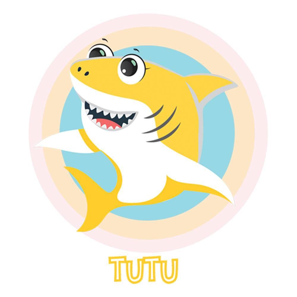 Bandana do Tubarão Amarelo para cachorros e gatos, Tam P ao G