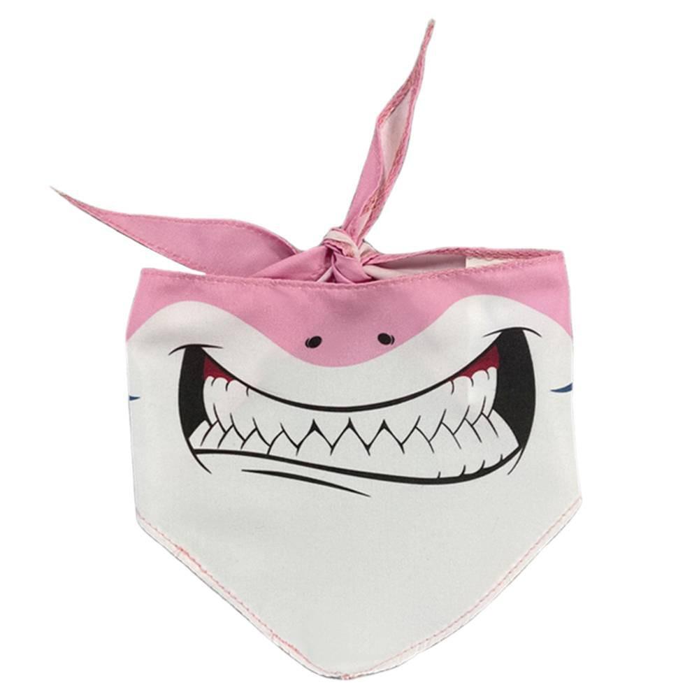Bandana do Tubarão Rosa para cachorros e gatos, Tam P ao G