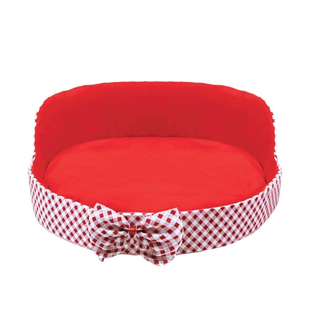 Cama para cachorros e gatos na cor Vermelha, Tam Único