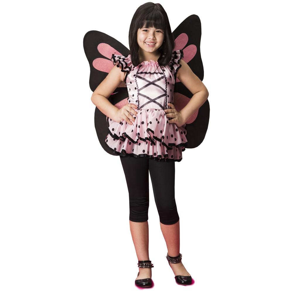 Fantasia de Borboleta Mila com asas