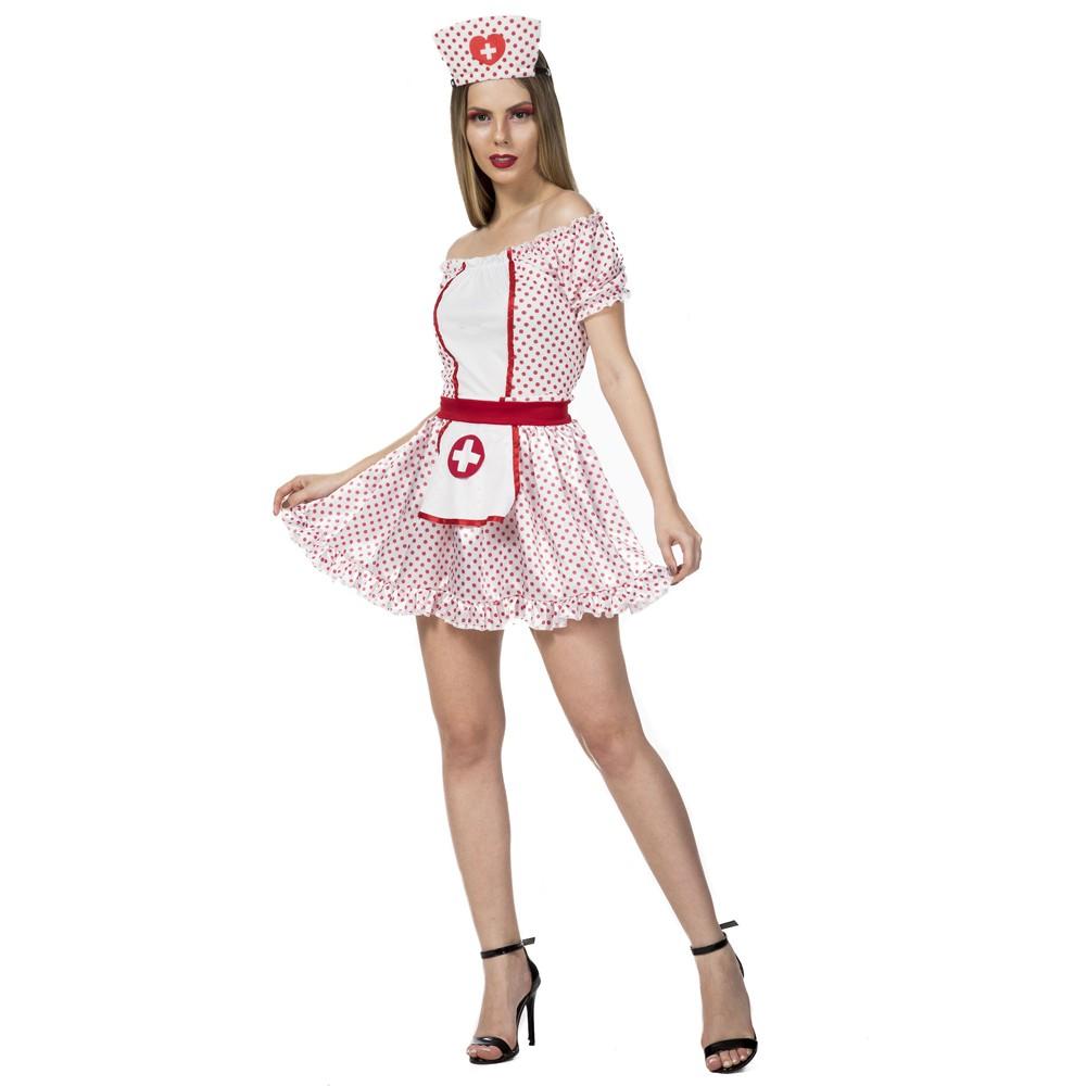 Fantasia de enfermeira com tiara para adultos