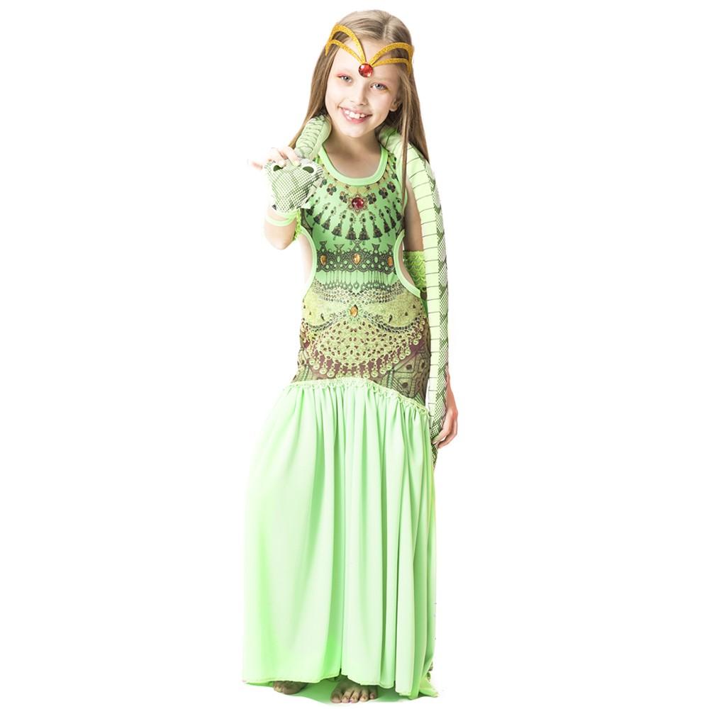 Fantasia de Odalisca verde com coroa