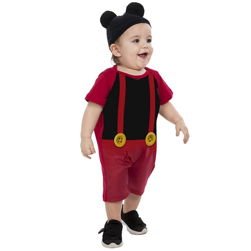 Fantasia de Ratinho Pimpo com touca para bebês