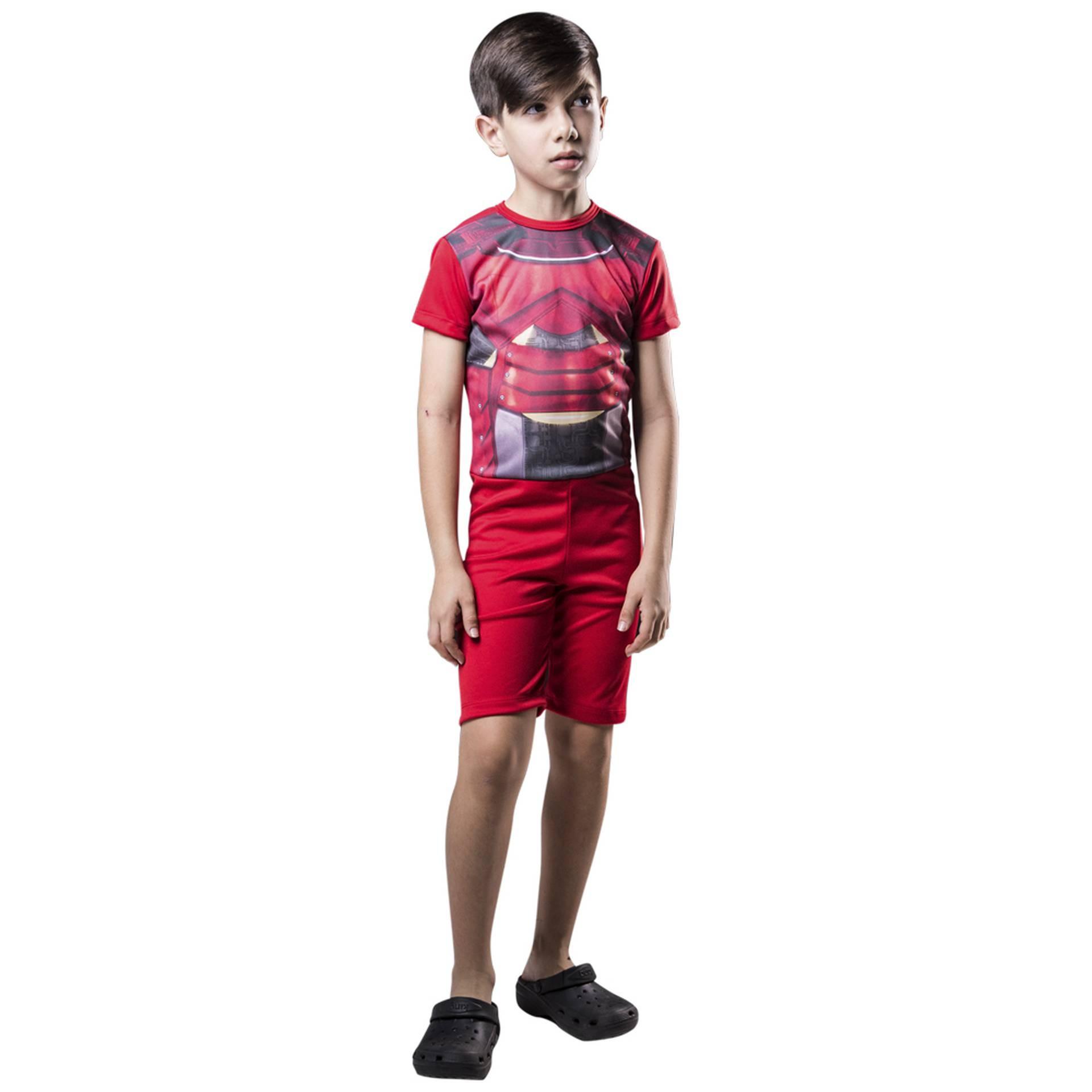 Fantasia de Soldado Estelar macacão curto para meninos
