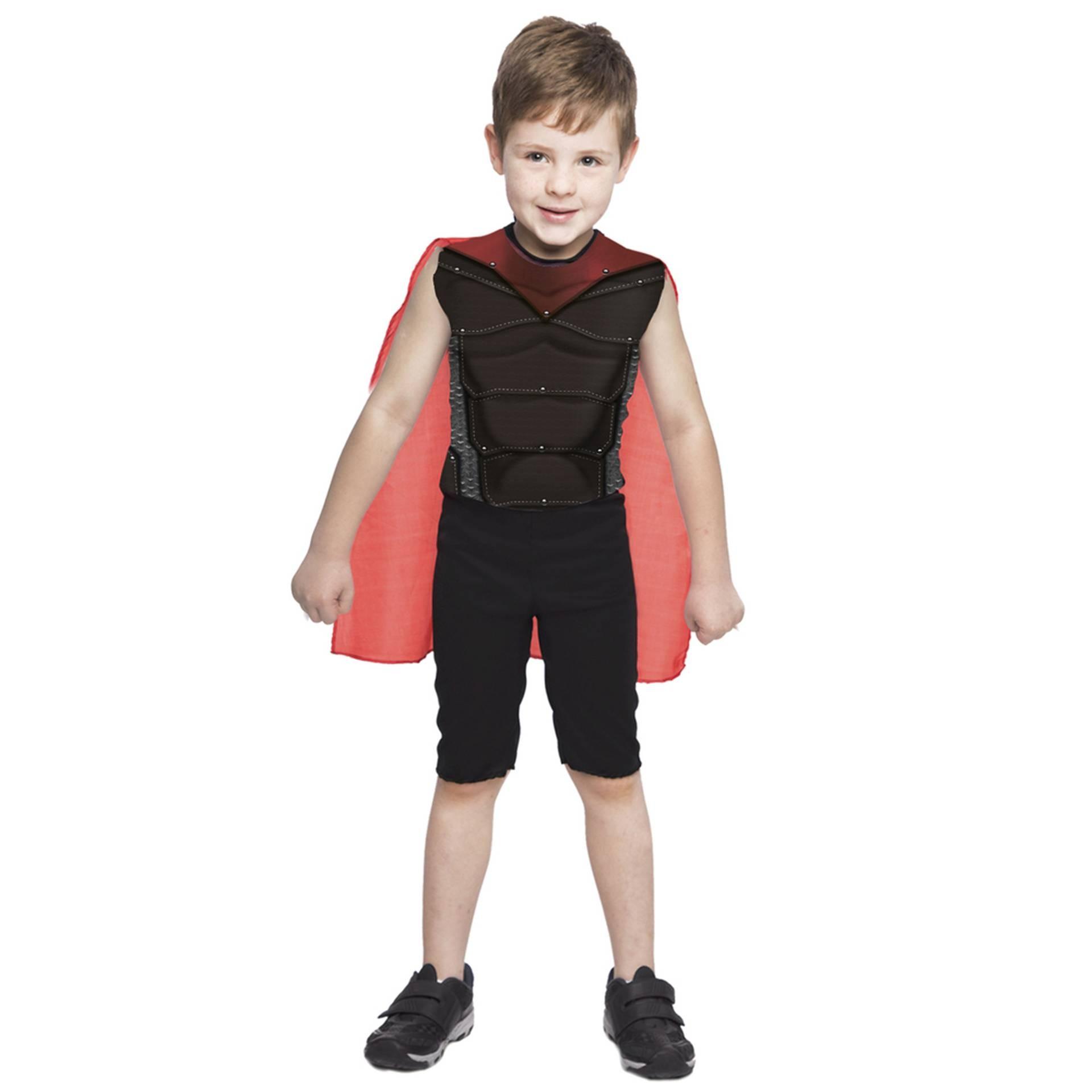 Fantasia de Super Menino Martelo, macacão com capa e músculos