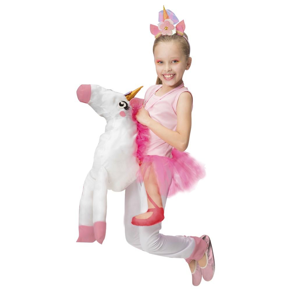 Fantasia de Unicornio Alado com unicórnio de pelucia