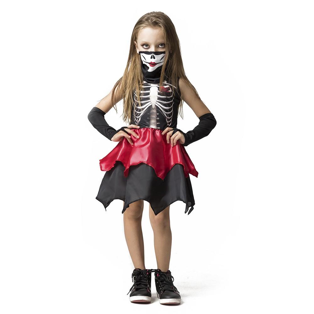 Fantasia Esqueleta infantil