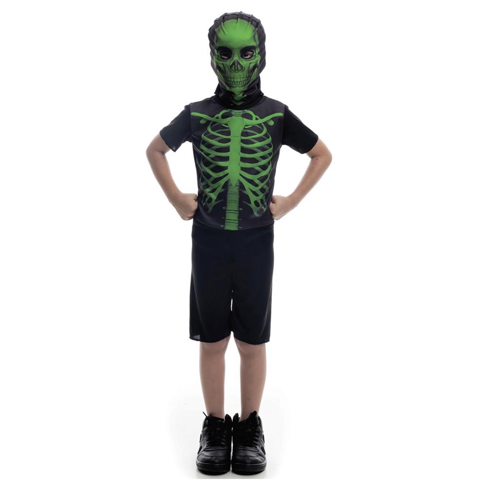 Fantasia esqueleto verde