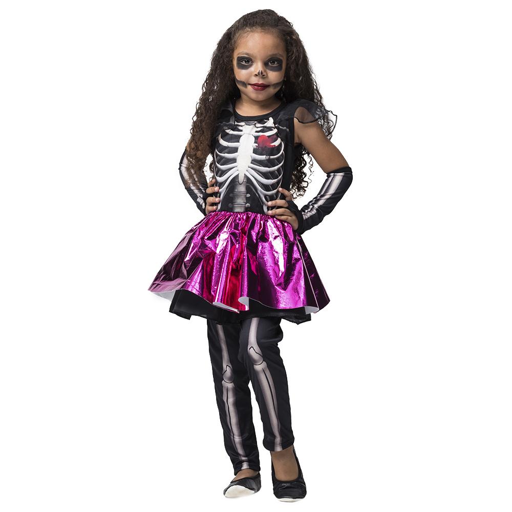 Fantasia infantil esqueletinha