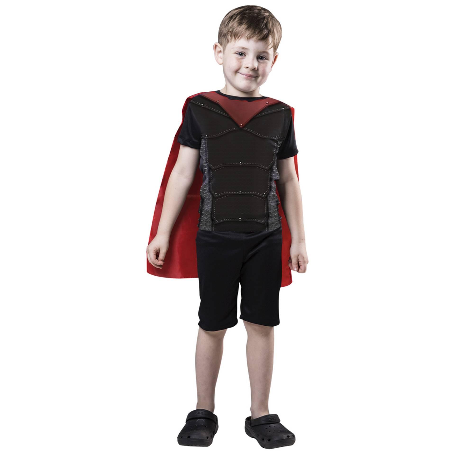 Fantasias do Menino Martelo, macacão curto com capa para meninos