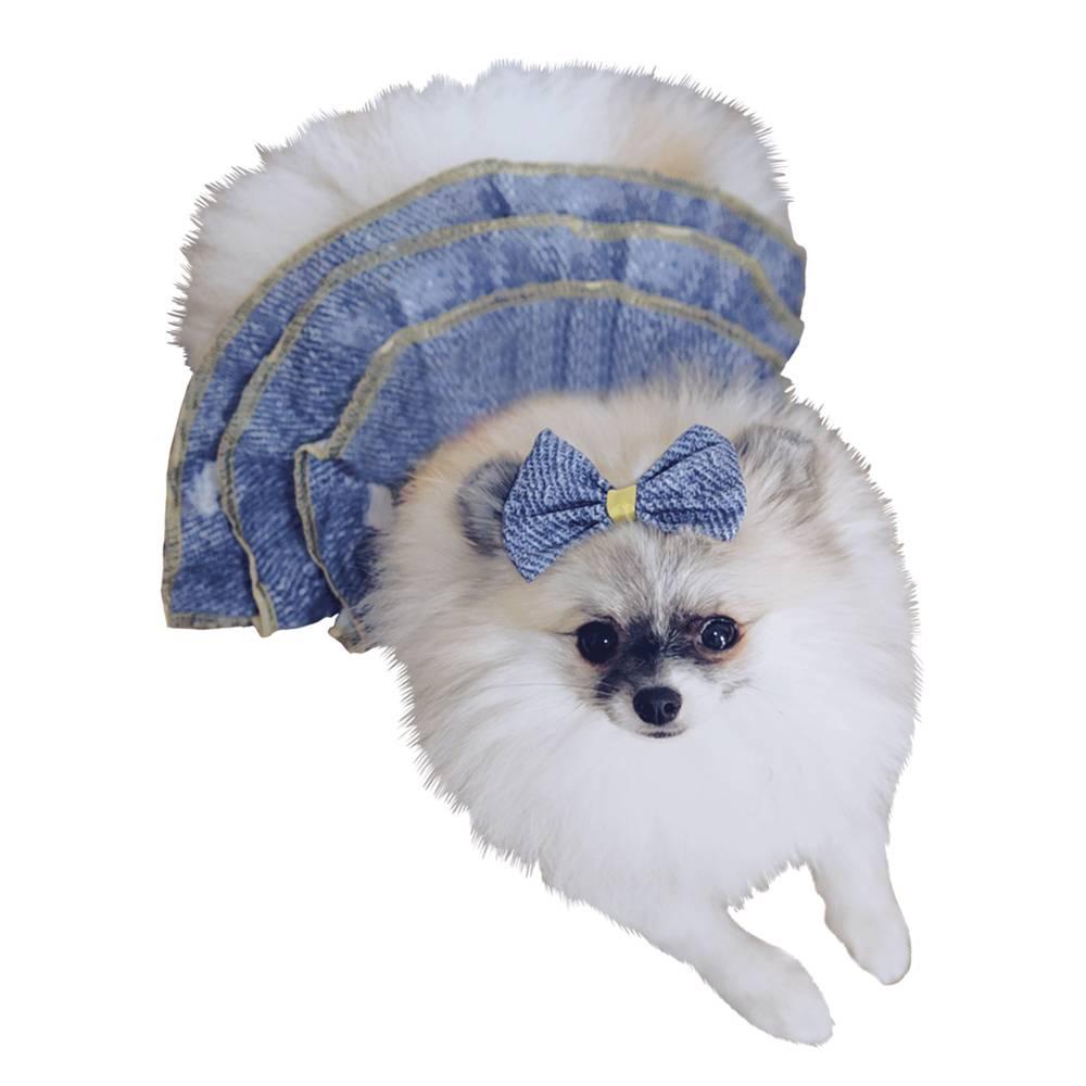 Fantasia de Girassolzinha com laço de cabeça para cachorros e gatos, Tam PP ao GG