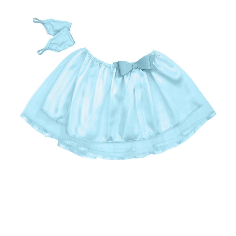 Kit saia Azul Bebê