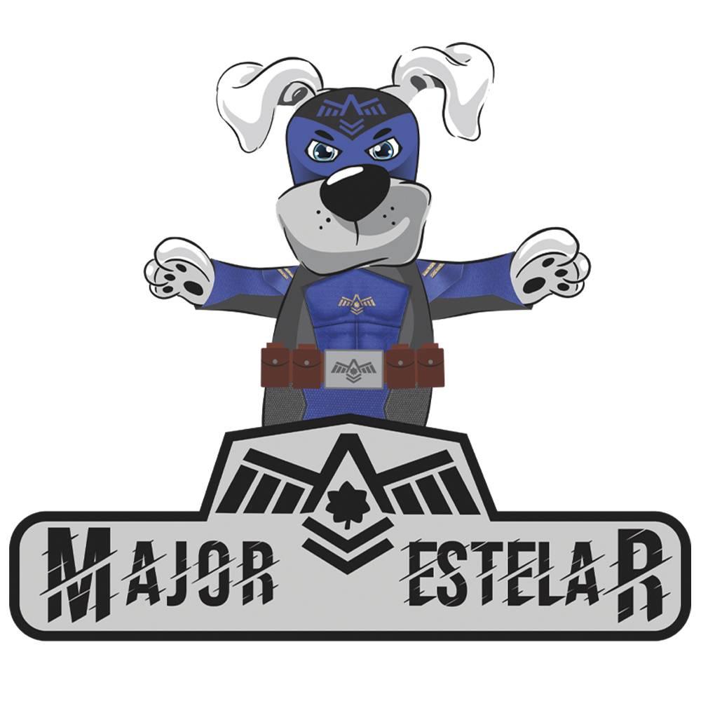 Fantasia de Major Estelar com máscara para cachorros e gatos, Tam PP ao GG