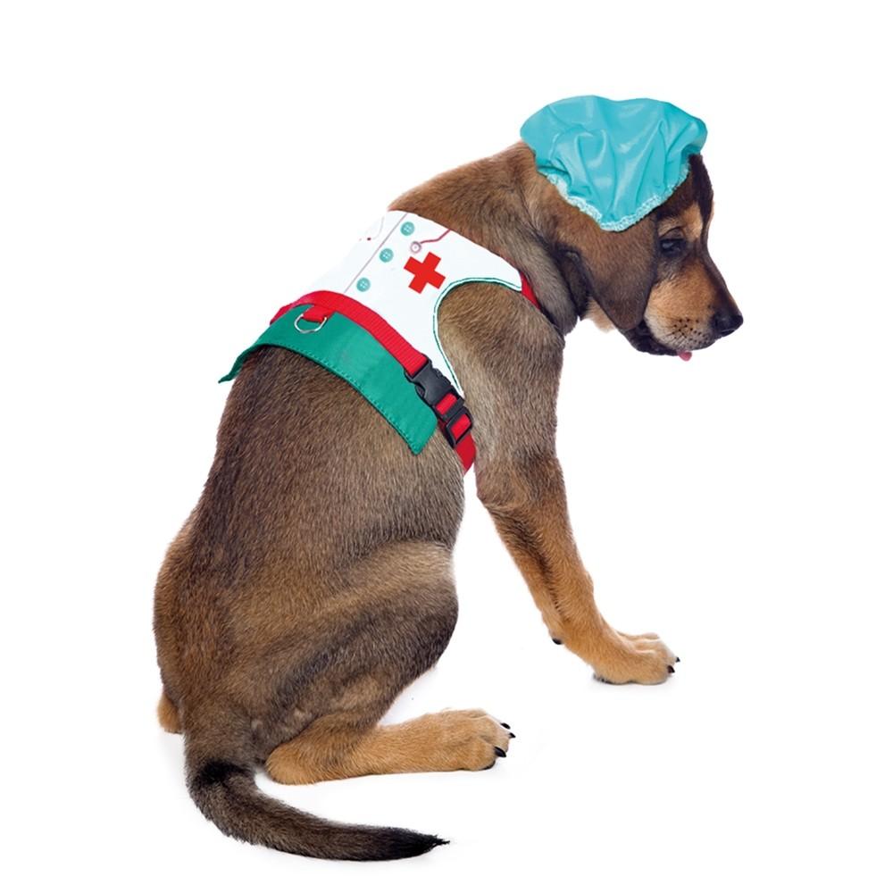Peitoral de Médico para cachorro , P ao G