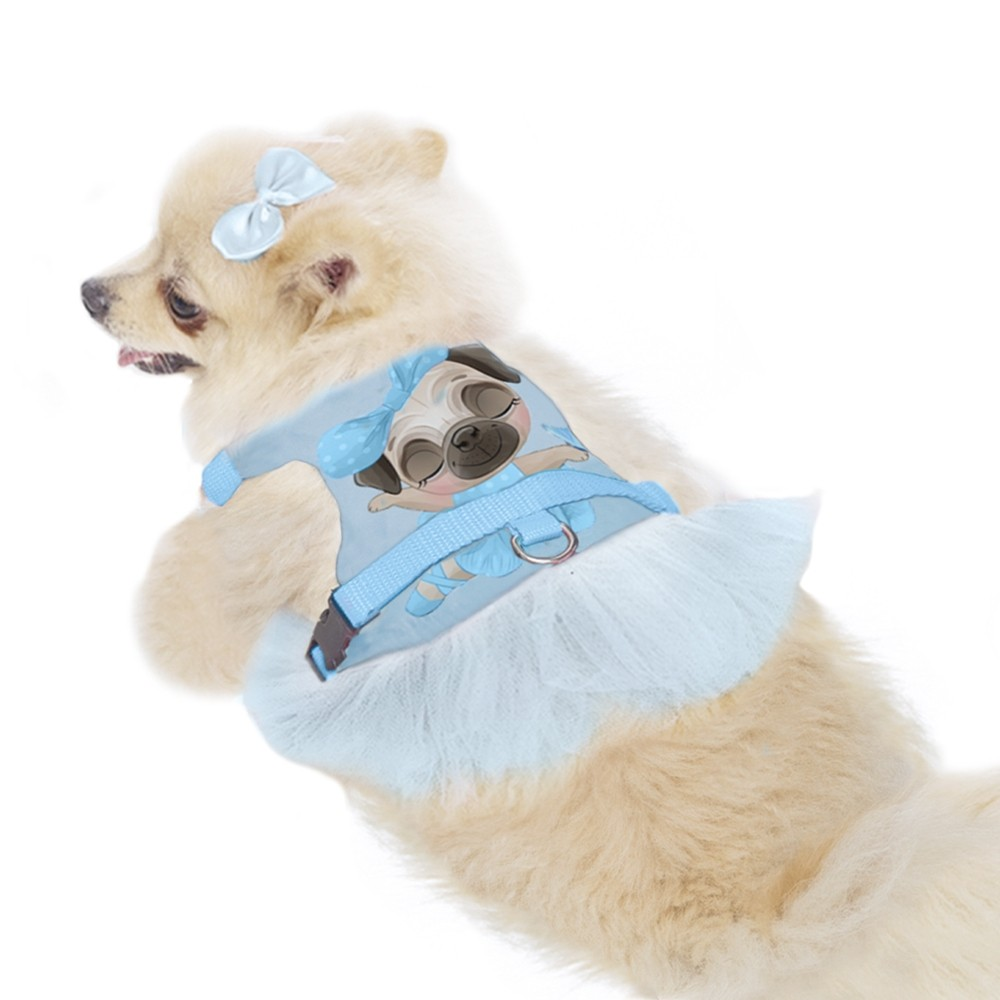 Peitoral para cachorros de Bailarina Azul ,P ao G