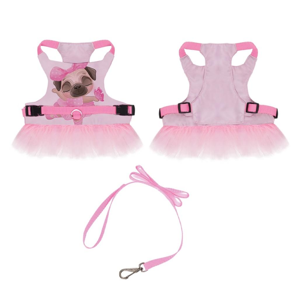 Peitoral para cachorros de Bailarina Rosa ,P ao G