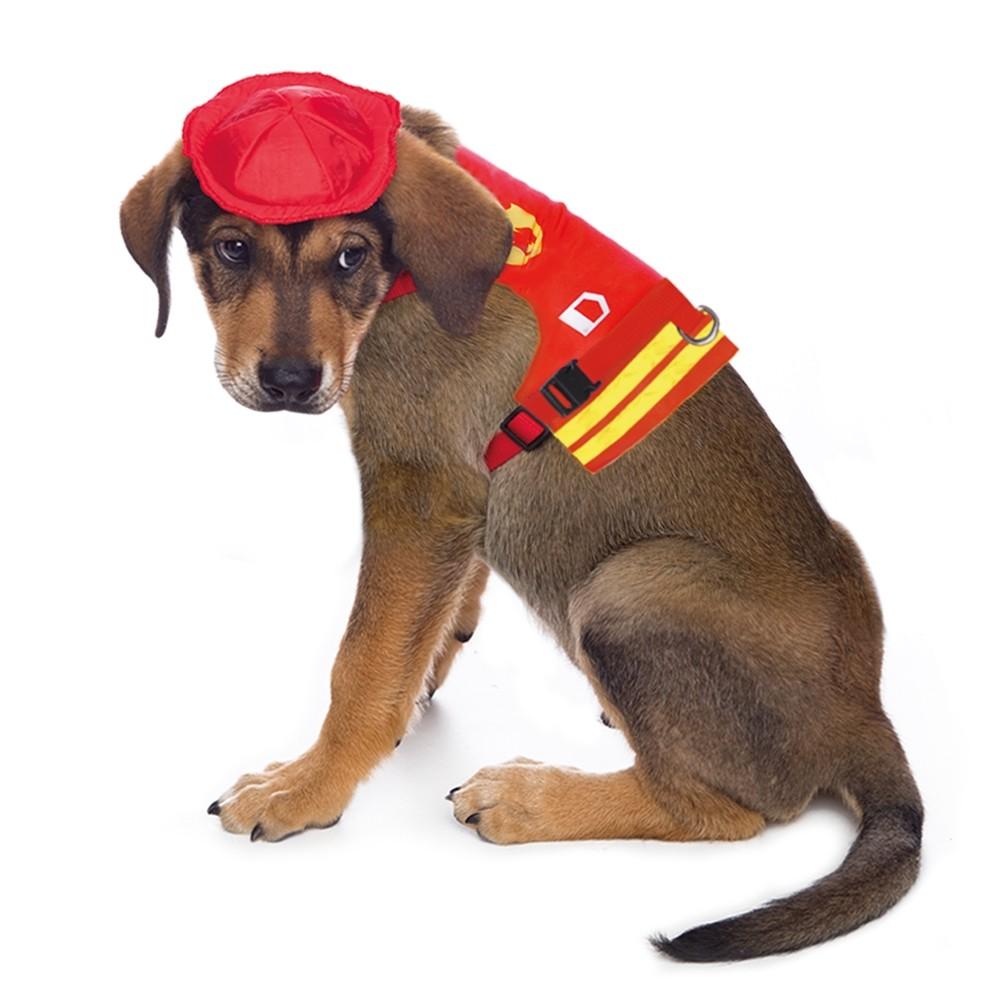 Peitoral de Bombeiro para cachorro, P ao G