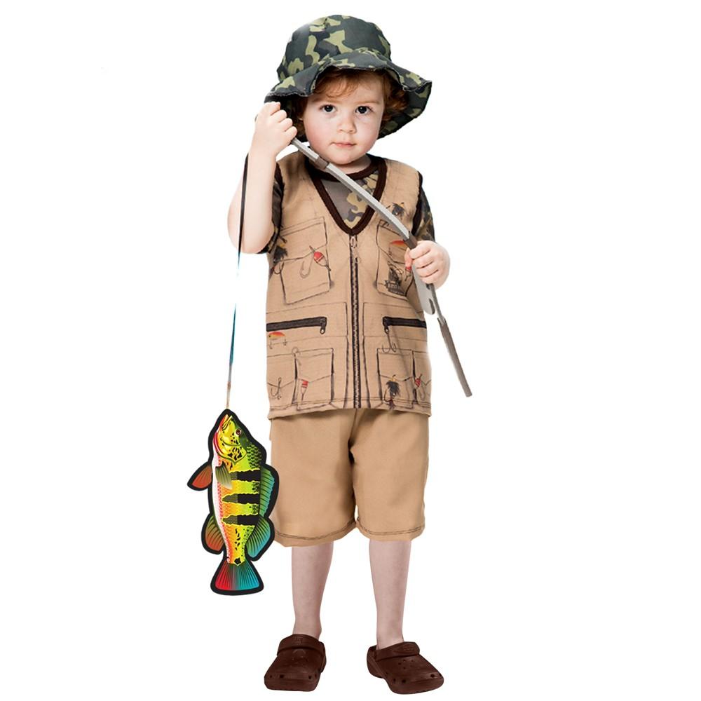 Fantasia de Pescador José com vara e peixe