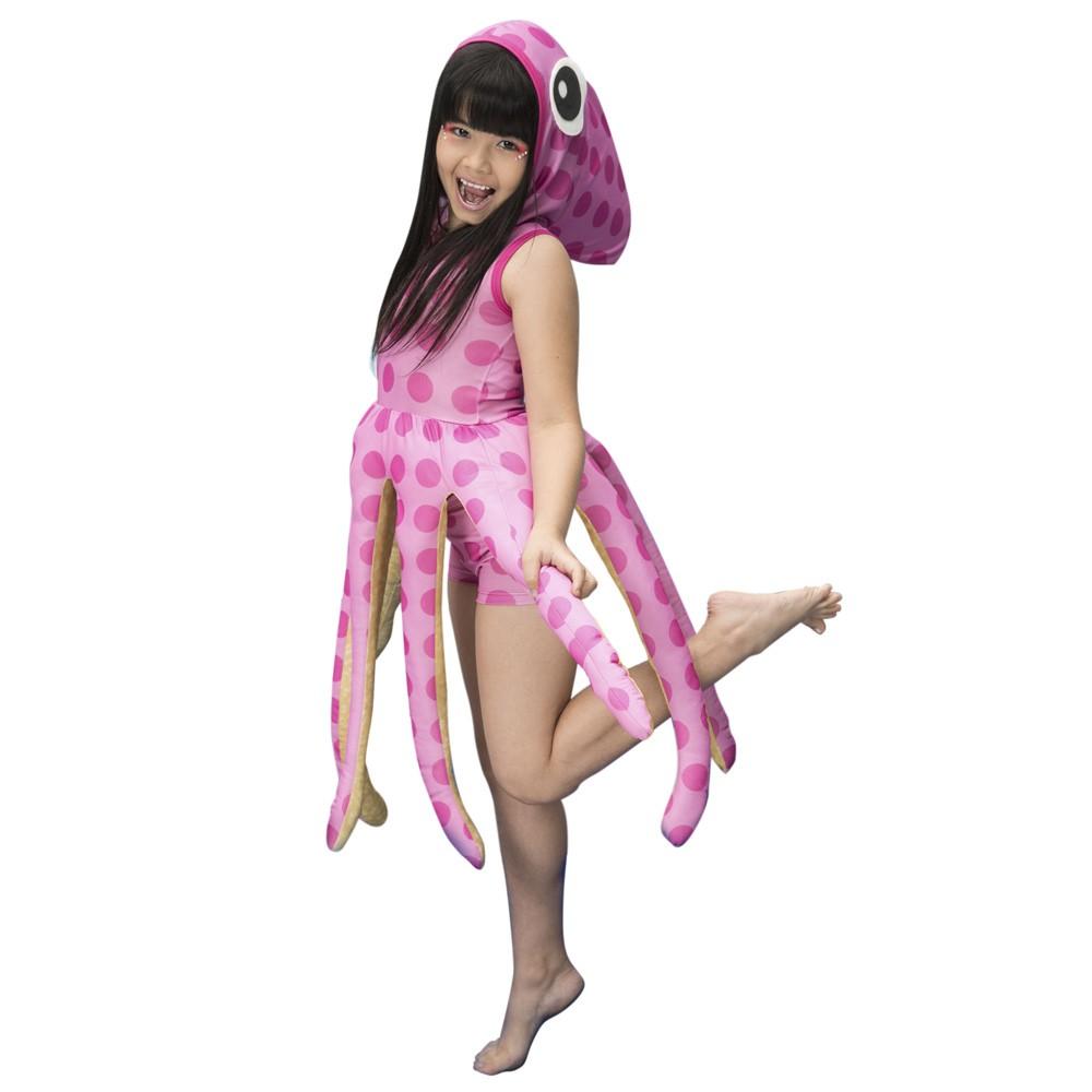Fantasia de Polvinha Cacau com tentáculos e barbatana