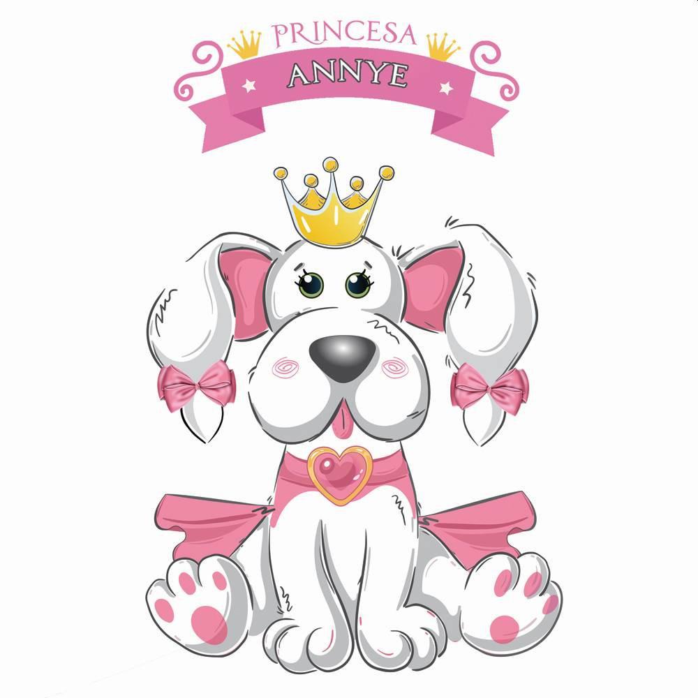 Fantasia de Princesa Annye com coroa para cachorros e gatos, Tam. PP ao GG