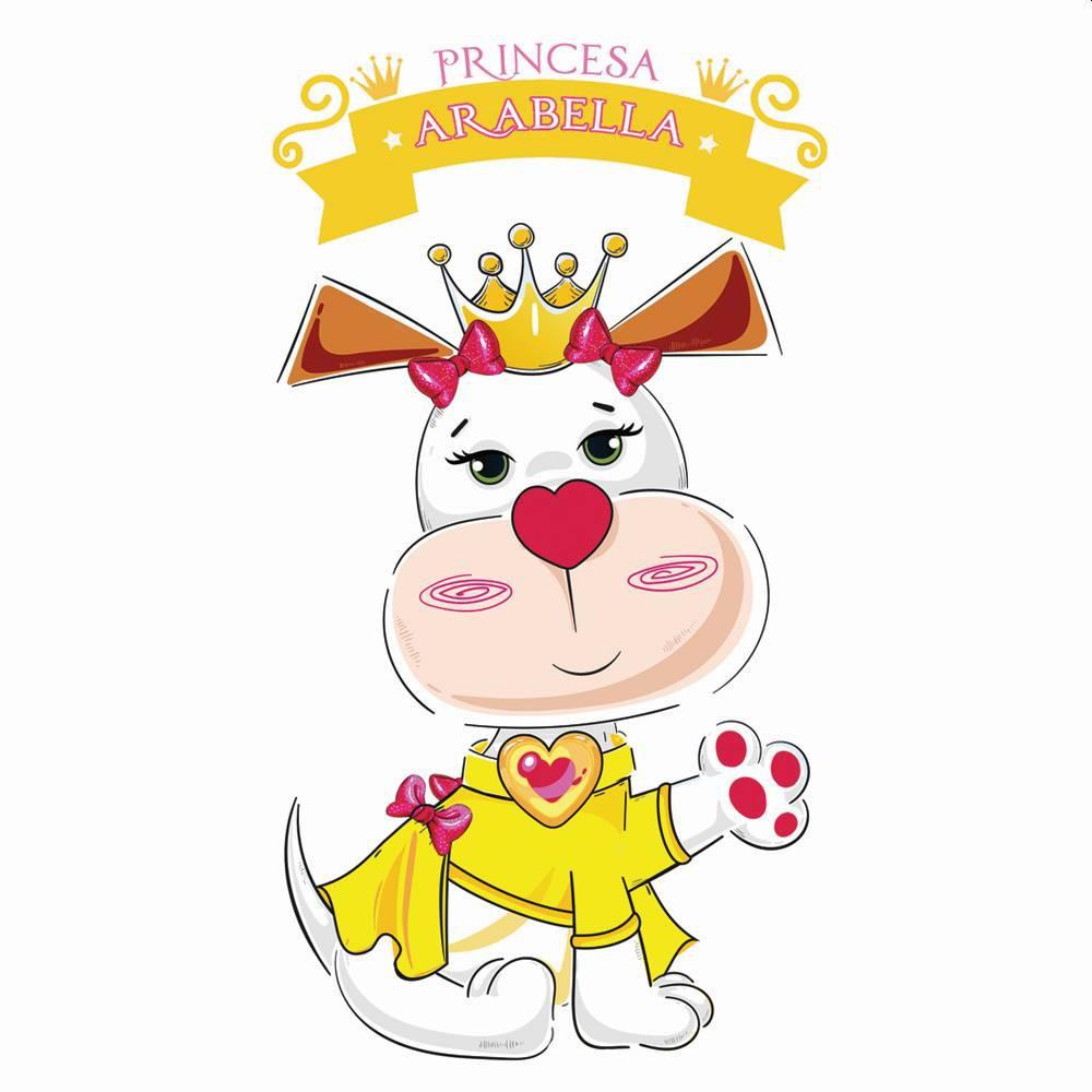 Fantasia de Princesa Arabella com coroa para cachorros e gatos, Tam PP ao GG