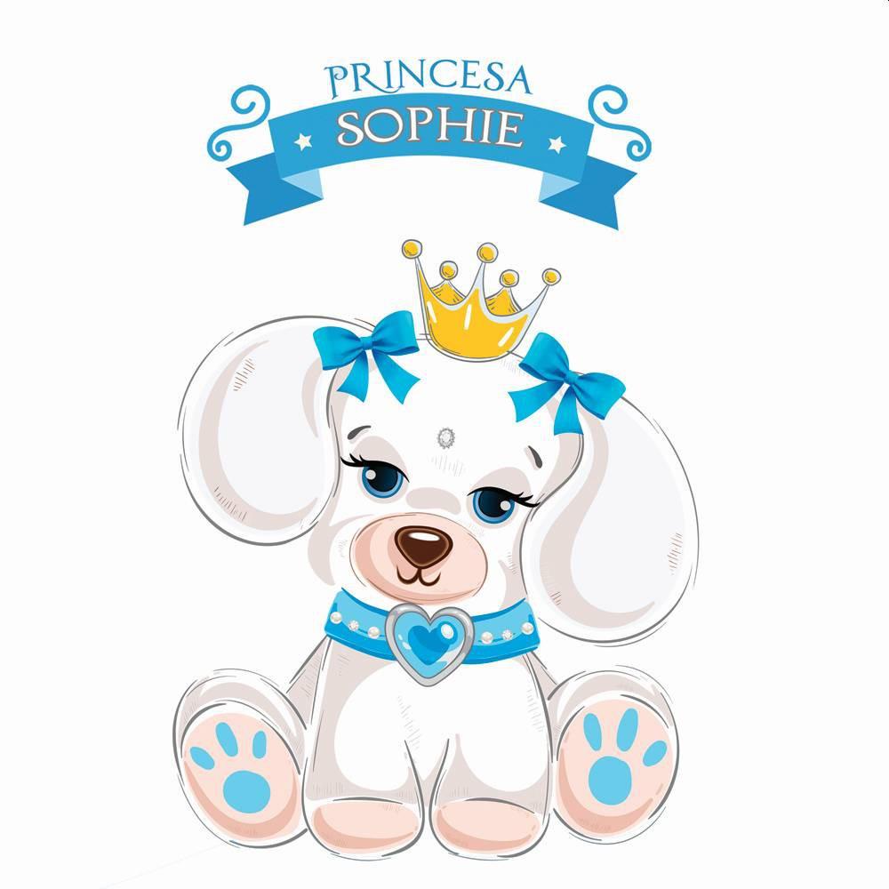 Fantasia de Princesa Sophie com coroa para cachorros e gatos, Tam PP ao GG