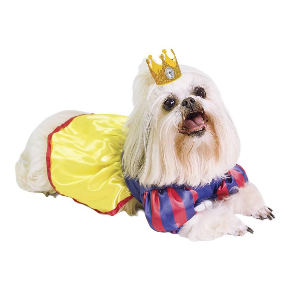 Fantasia de Princesa Valery com coroa para cachorros e gatos, Tam PP ao GG
