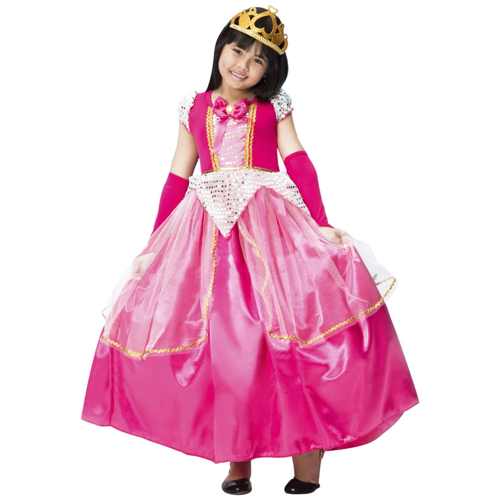 Fantasia de Princesa Victoria com coroa e luvas