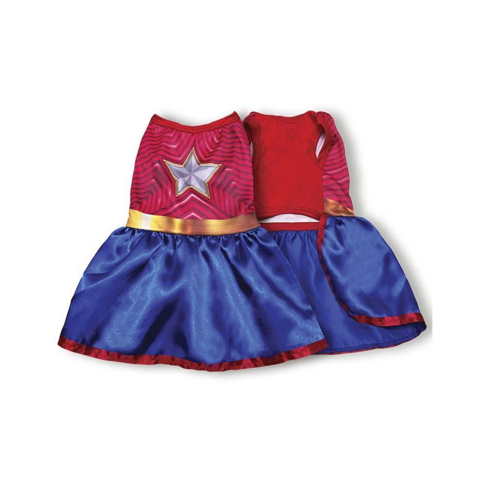 Fantasia de Herói da Super Star com coroa para cachorros e gatos, Tam PP ao GG