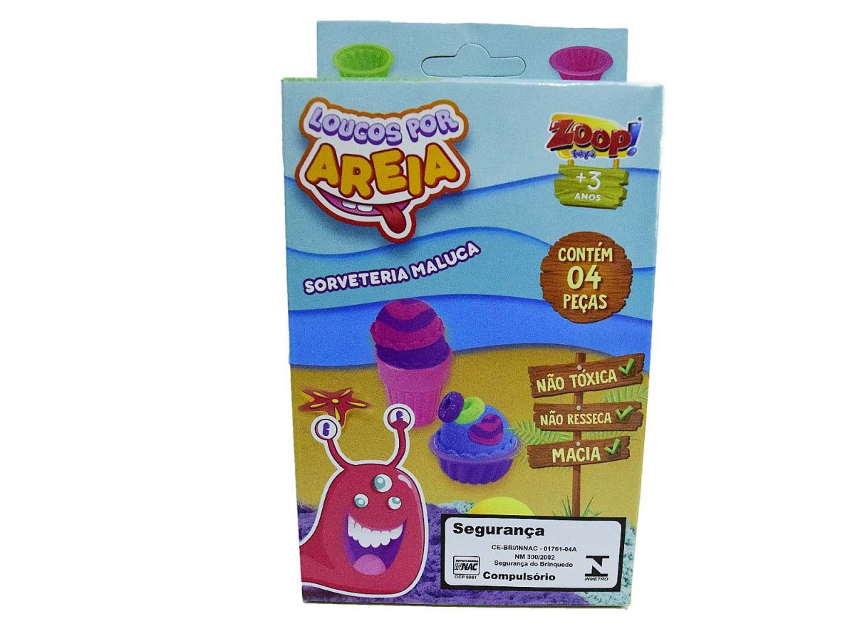 Areia Sorveteria Maluca Zoop Toys ZP00706
