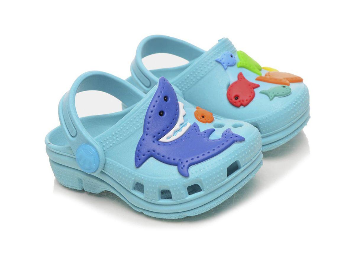 Babuche Tubarão Azul  Plugt