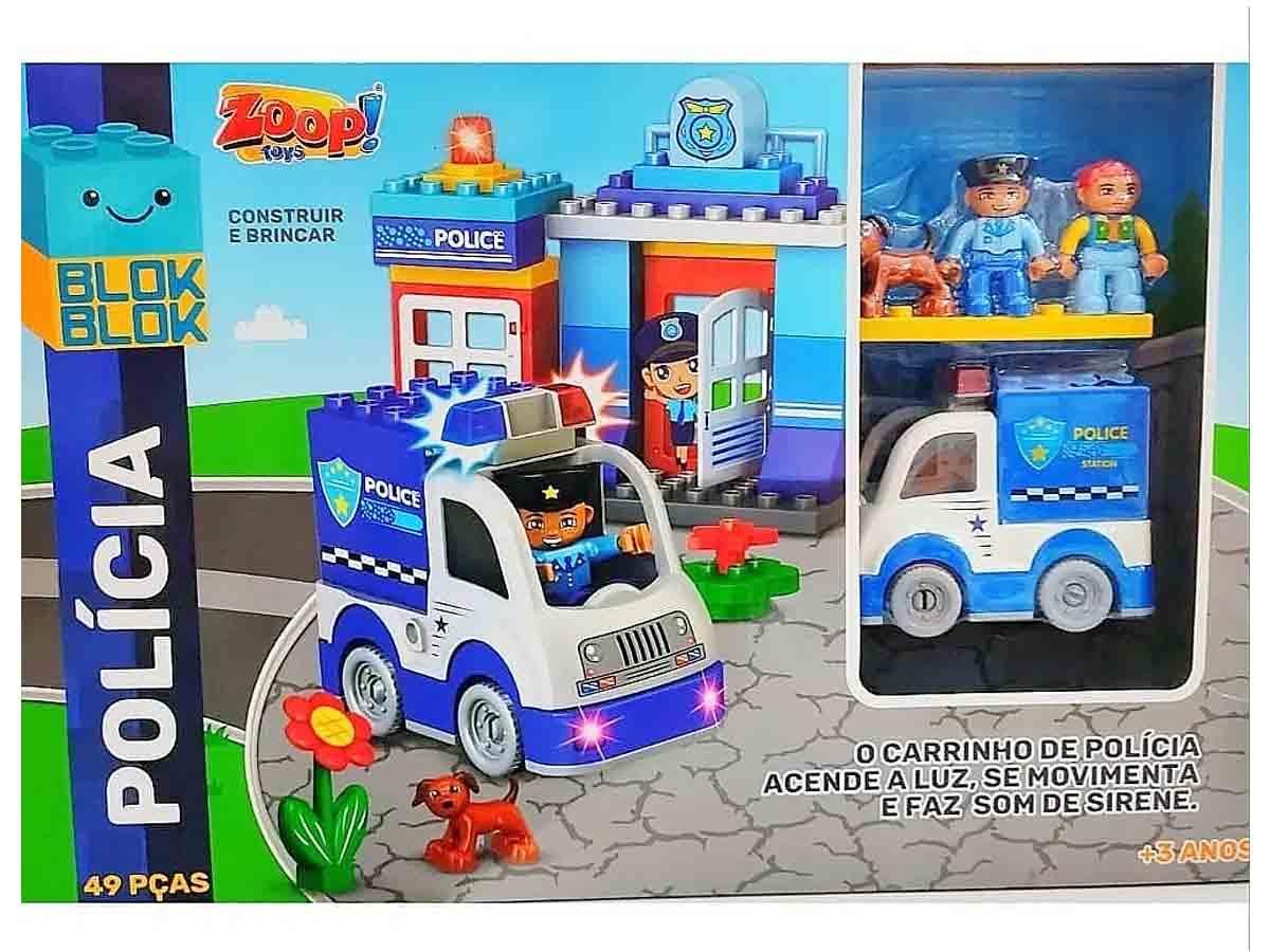 Blocos de Construção Policial Zoop Toys ZP00749