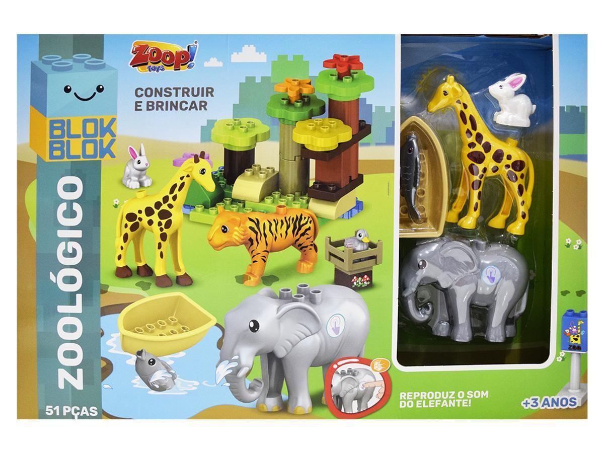 Blocos de Construção Zoológico Zoop Toys ZP00748