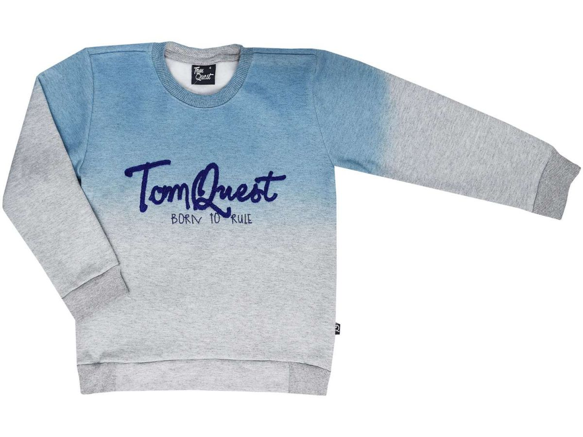 Blusa Moletom Masculina Azul Tom Quest