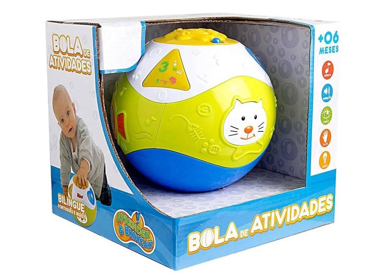Bola De Atividades Brinquedo Musical Educativo Bilíngue Zoop Toys