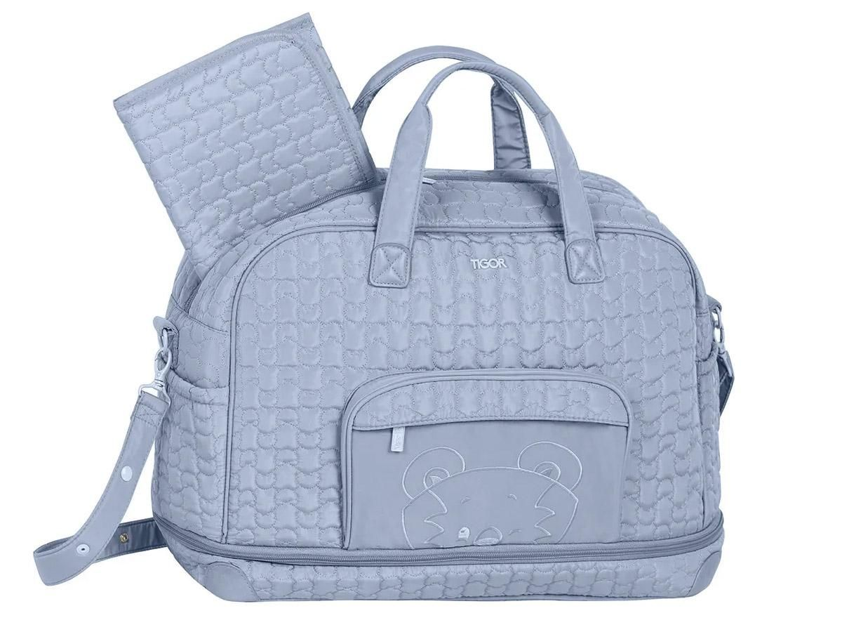 Bolsa Maternidade Grande Azul Luxo Lisa Tigor T.Tigre 80200792