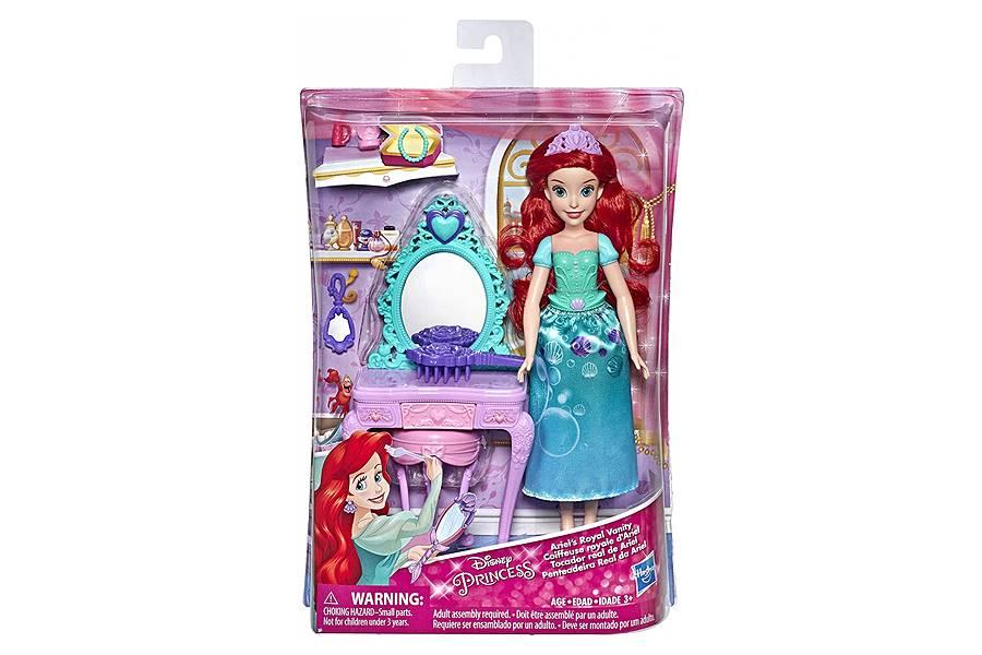 Boneca Ariel 30cm com Penteadeira e Acessórios Princesas Disney Hasbro E2912A