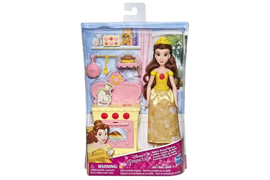Boneca Bela 30cm Cozinha e Acessórios Princesas Disney Hasbro E2912B