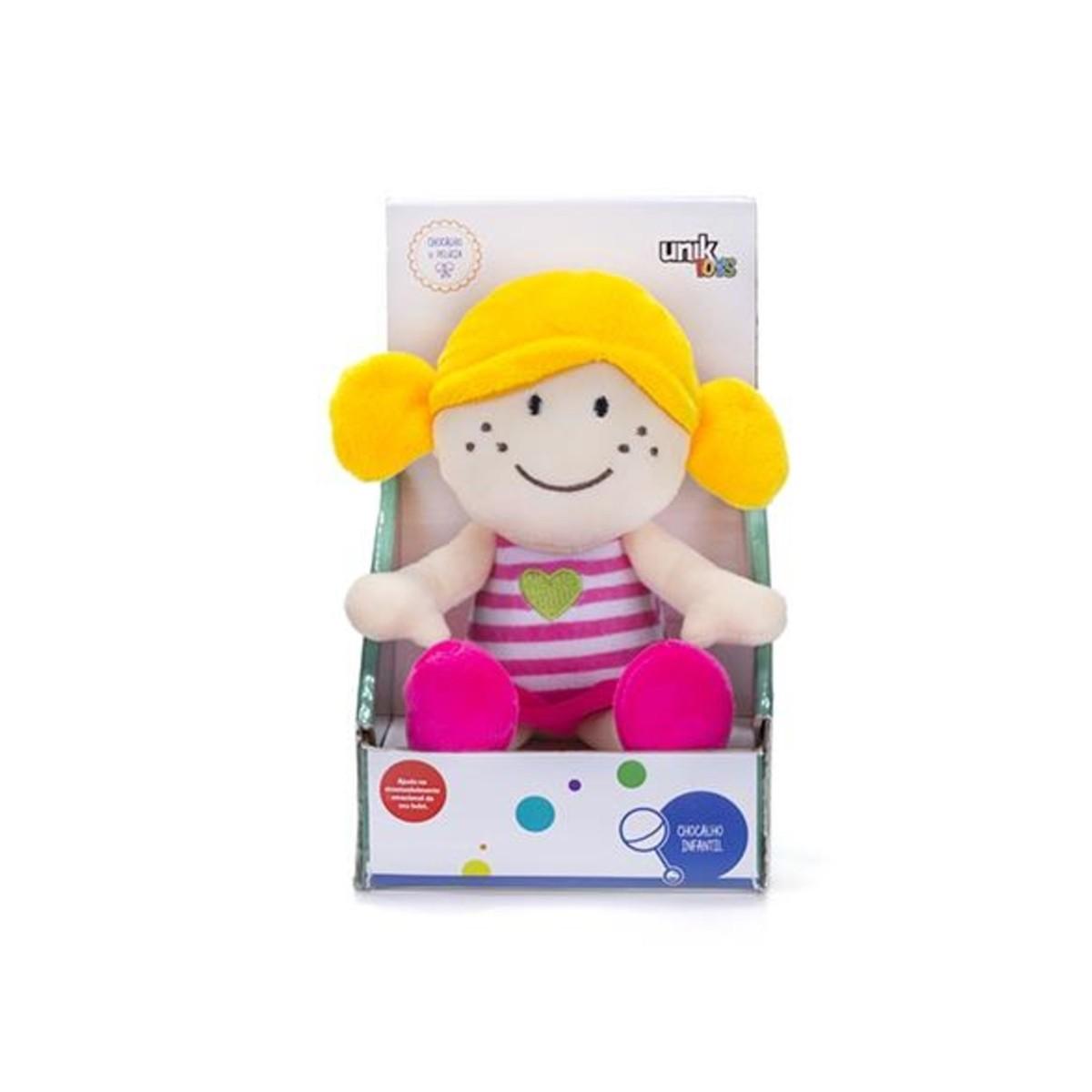 Boneca Pelúcia com Chocalho Unik Toys