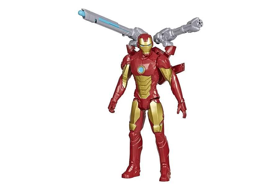 Boneco Homem De Ferro 30cm Articulado Com Lançador Blast Gear Hasbro E7380