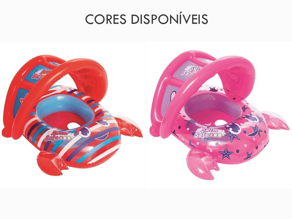 Bote Infantil Sapinhos Inflável c/ Cobertura Bel Fix