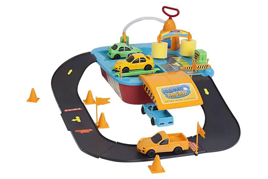 Brinquedo Acqua Rápido Lava Jato com 4 Carrinhos Xplast 8001