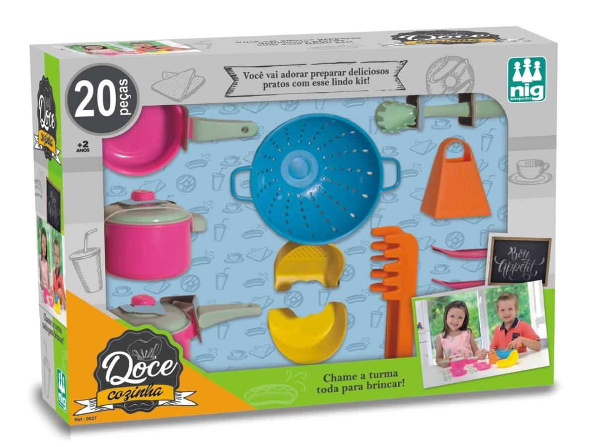 Brinquedo Doce Cozinha 20 peças Nig Brinquedos