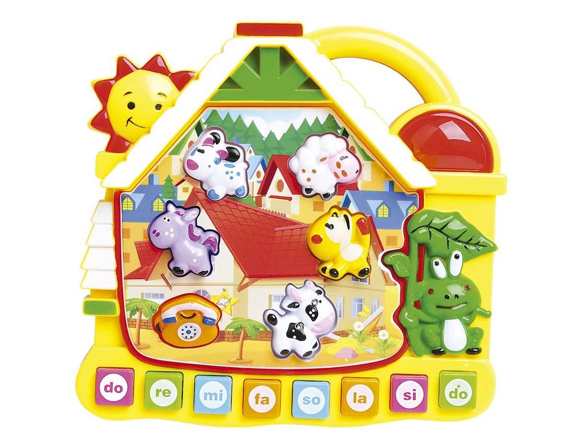 Brinquedo Educativo Casinha Paradise com Luz e Som Dm Toys