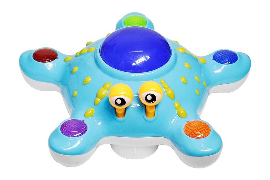 Brinquedo Estrela Lalá Bate e Volta Musical Azul 20cm DMT3900