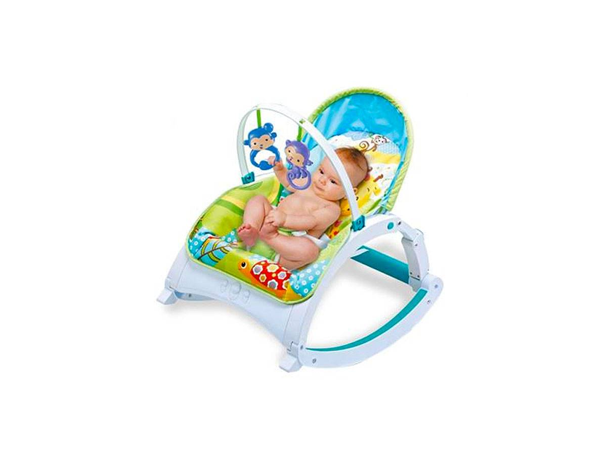 Cadeira Bebê Descanso Vibratória Musical - Zoop Toys