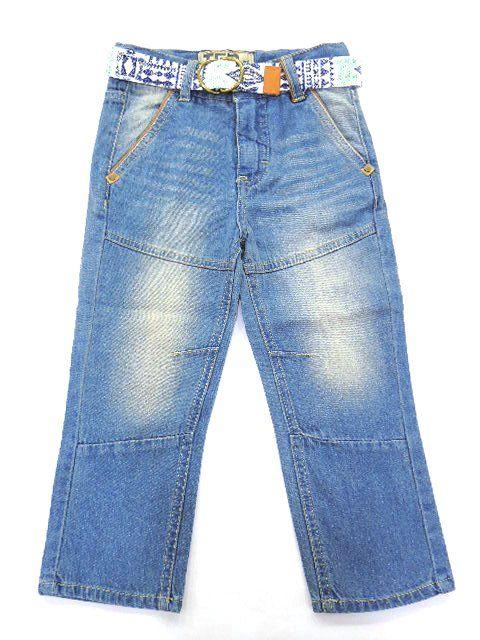 Calça Jeans Claro Com Cinto Tigor T. Tigre